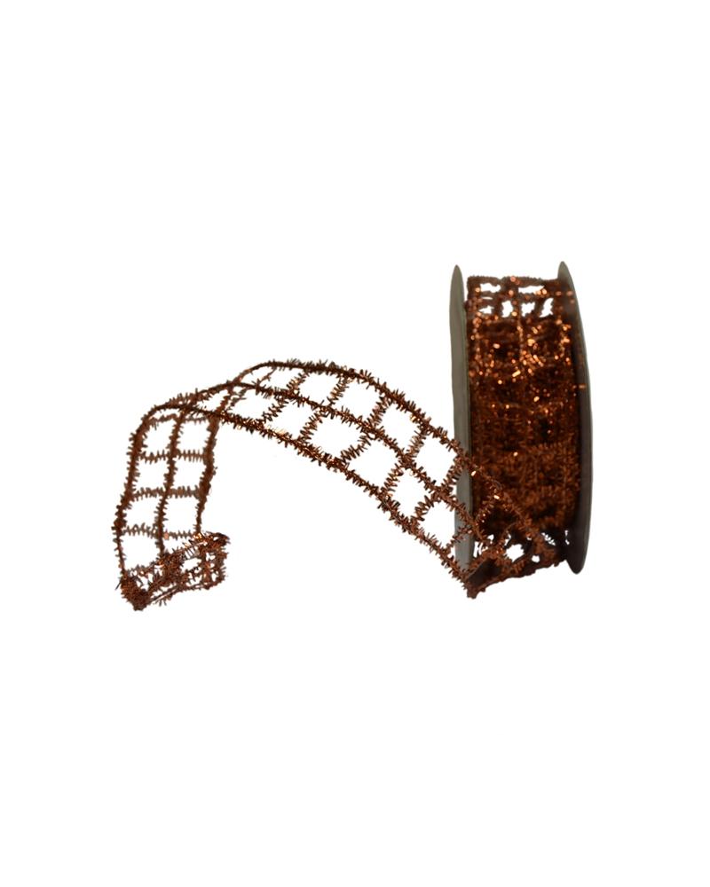 Fita Rede Metalizada Bronze 25mm - Bronze - 25mmx10mts - FT3638