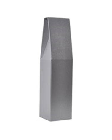 Caixa Pelle Grigio Scatola para 1 Garrafa - Cinza - 90x90x370mm - CX3222