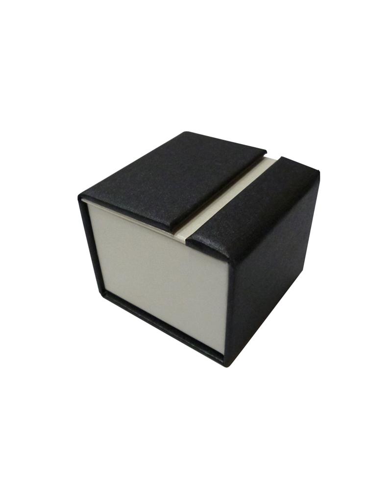 Caixa Linha Perola p/ Anel - Preto - 5.5x5.3x4.5cm - EO0532