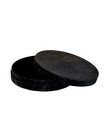 Caixa Linha Round Black Glossy para Colar - Preto - 15.9x15.9x3cm - EO0717