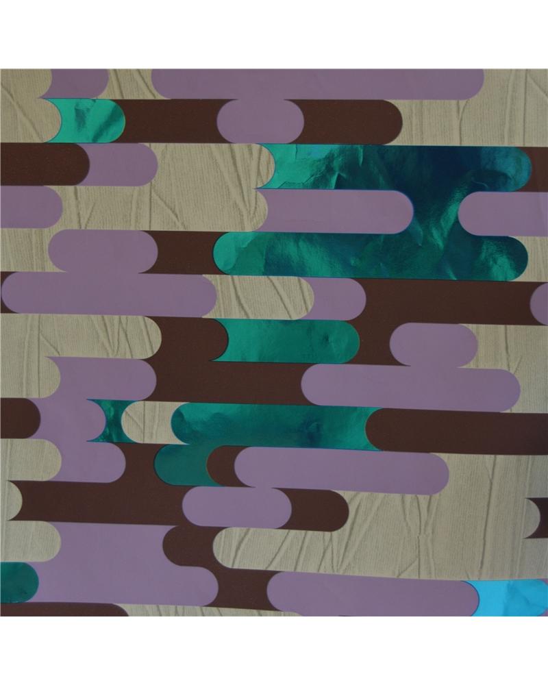 Rolo Papel Reflex Traços Azuis/Castanhos/Lilás - Azuis/Castanhos/Lilás - 0.70x100mts - BB1952