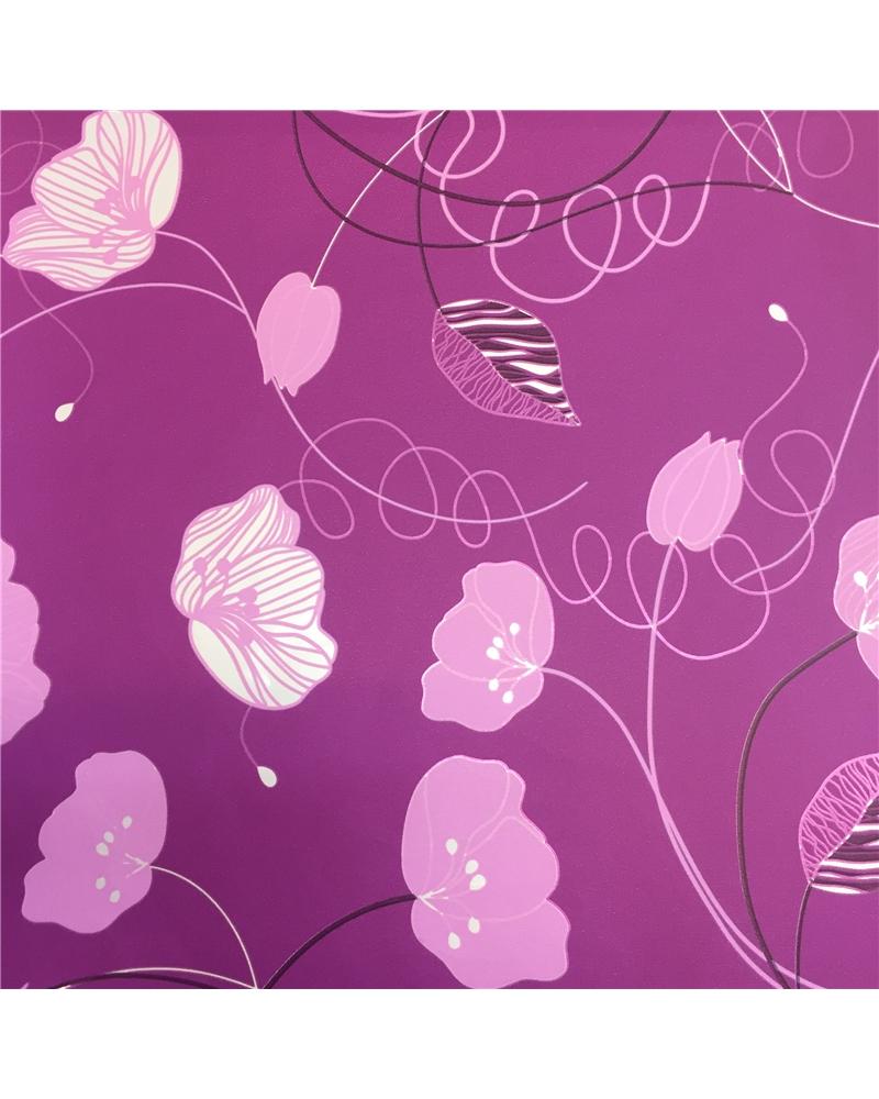 Papel Reflex Roxo c/Flores - Roxo - 70x100cm - PP2610