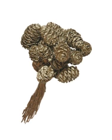Saco Pinhas Douradas Pequenas (SC C/288) - Dourado - 8cm - DVC0030