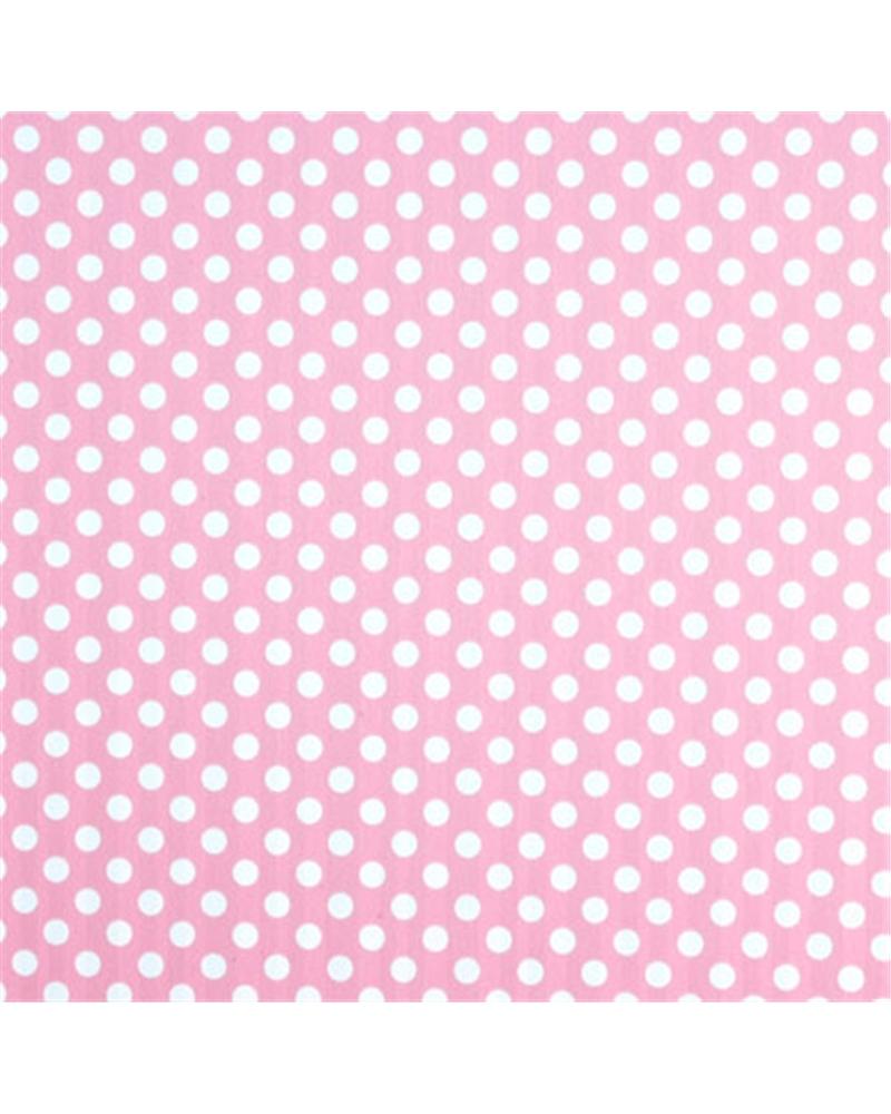 Rolo Papel Dupla Face Rosa c/bolas e Riscas Azul 0.70x100mts - Rosa - 0.70x100mts - BB1954