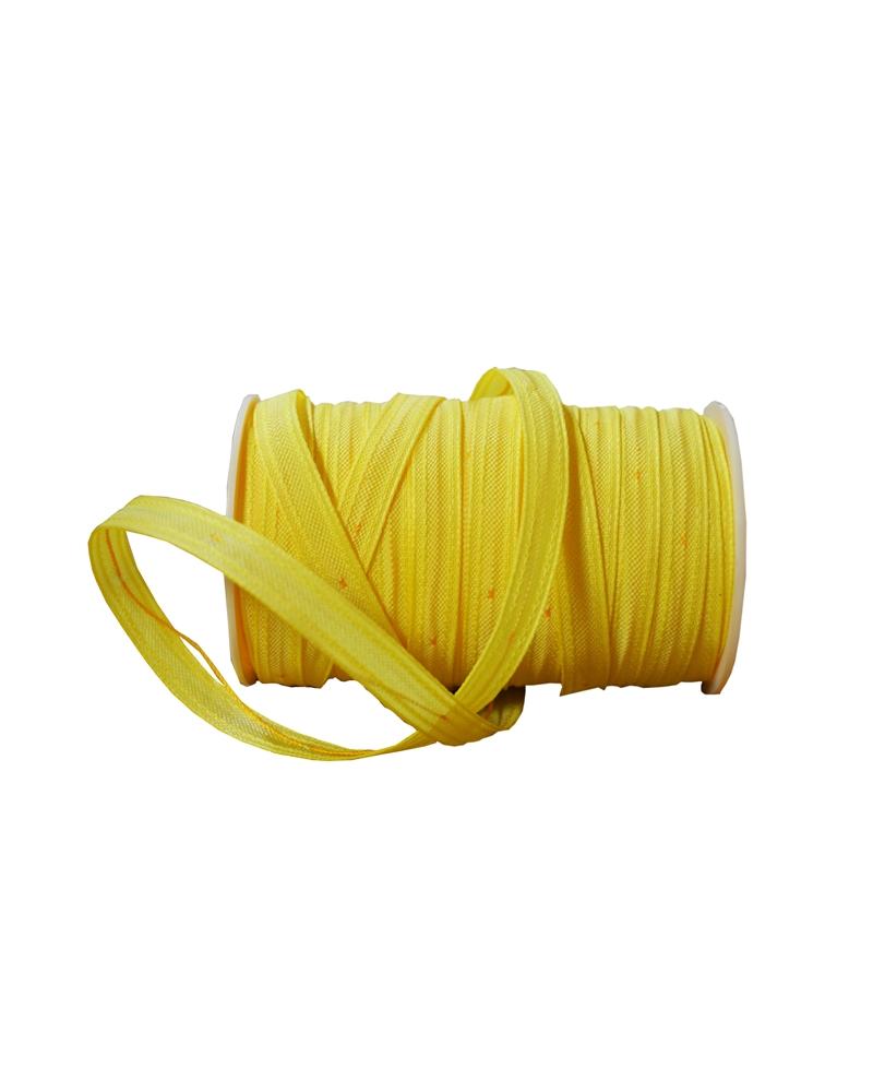Fita Tecido C/Tirante Amarelo 10mm - Amarelo - 10cmx25mts - FT3394