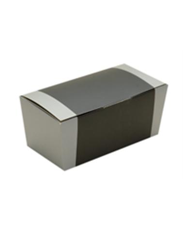 "Caixa Ballotin fd Autom. Prateado ""Metalic"" - Prateado - 145x72x68mm - ACX0068"
