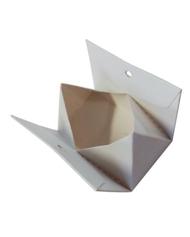 Caixa Branca Mini Carteira c/Furo - Branco - 7x4x4cm - EO0608