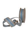 Fita Tecido Natural Risca Azul - Azul - 25mmx10mts - FT5264