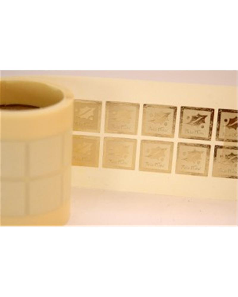 ROLO ETIQ. (C/500) DOURADO AZEVINHO PEQ. NATAL - Dourado - 1.7x1.7cm - ET0238