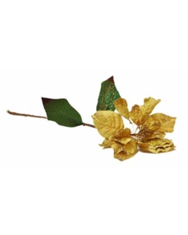 Haste Flor Petala Veludo Amarelo Torrado - Amarelo - 65cm - DVC0180