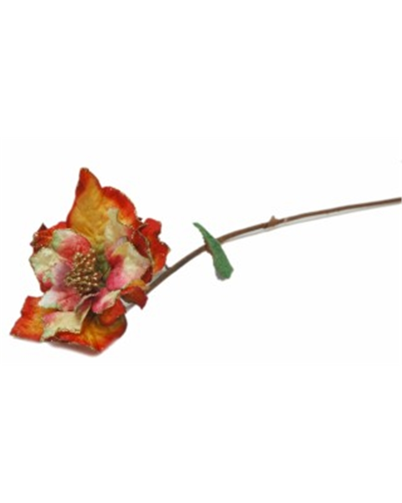 Haste Flor Petala Veludo Colorida - Colorida - 65cm - DVC0193