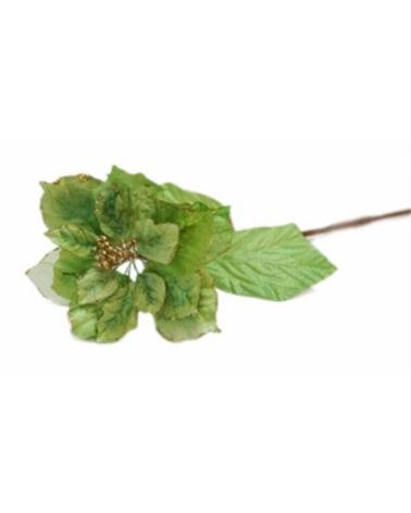 Haste Flor Petala Veludo Verde Alface - Verde - 60cm - DVC0194