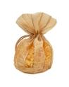 Saco Organza Dourado Riscas - Dourado - 11x13+8cm - EO0429