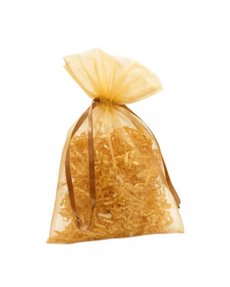 Saco Organza Dourado - Dourado - 19x30cm - EO0436