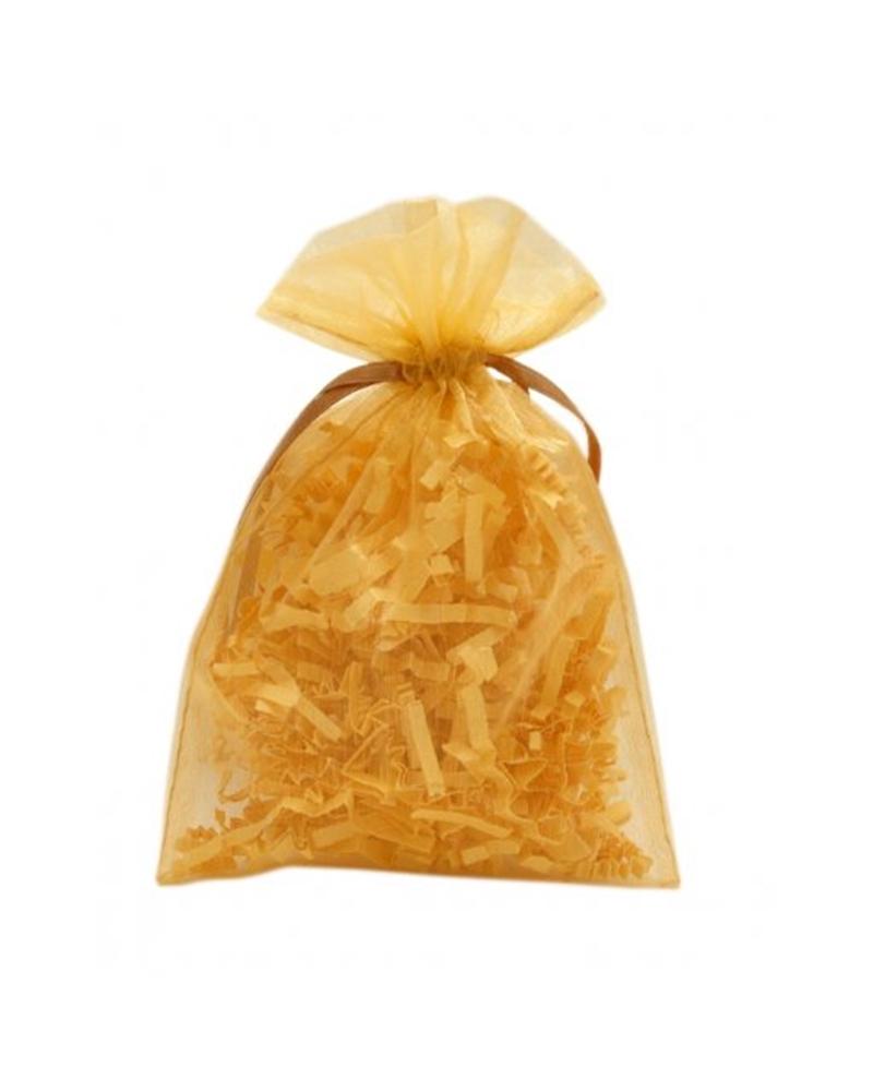 Saco Organza Dourado - Dourado - 13x18cm - EO0443