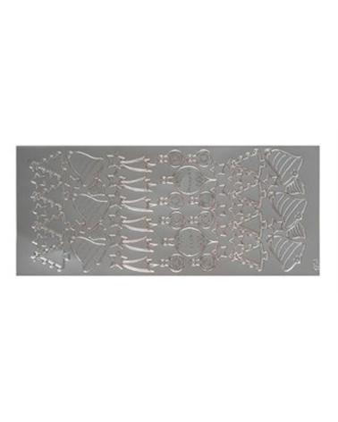 Etiquetas Troqueladas Motivos Natal Prata (min.10) - Prateado - Vários - ET0511