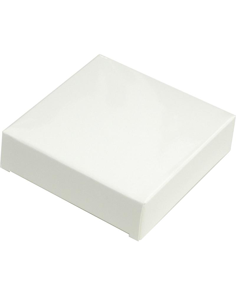 Caixa em Papel Branco Brilho 300gr 7.8x7.8x2.2cm - Branco - 78x78x22mm - CX3376