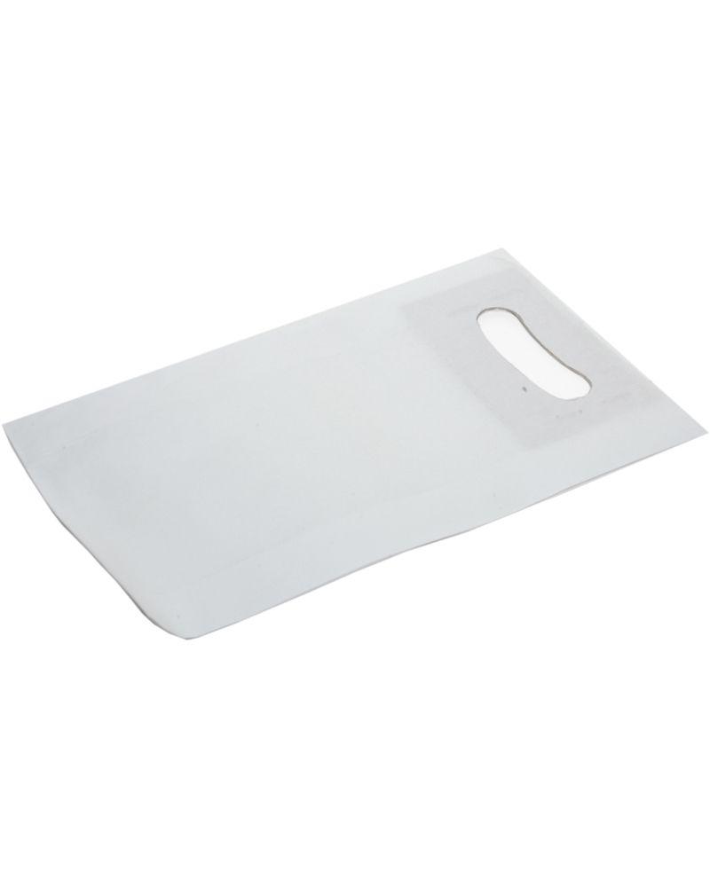 Saco Asa Vazada c/ Fole Lateral em Papel Kraft Branco - Branco - 18+6x29 - SC3209