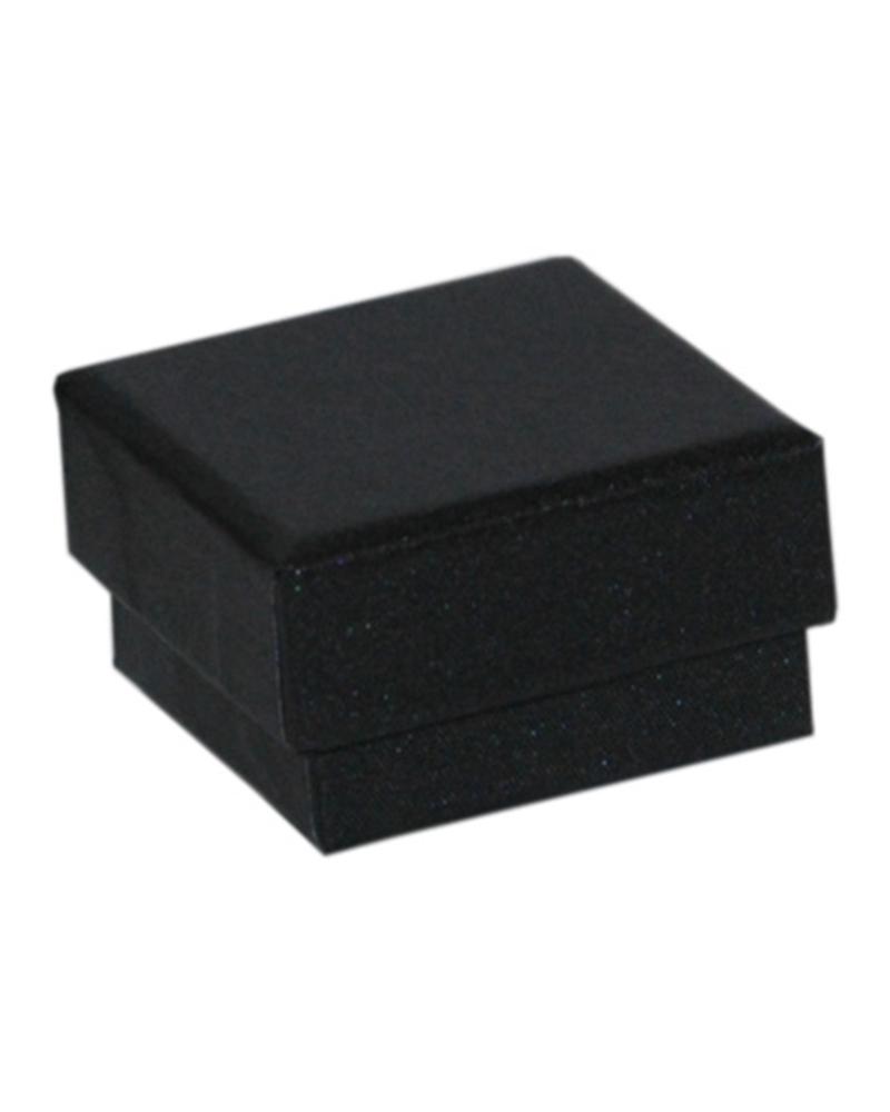 Caixa Linha Agata Negra p/ Brincos - Preto - 4.6x4.6x2.6cm - EO0674
