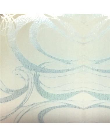 Rolo de Fita Metalizada Branco c/Arabescos 19mm - Branco - 19mmx100mts - FT4141