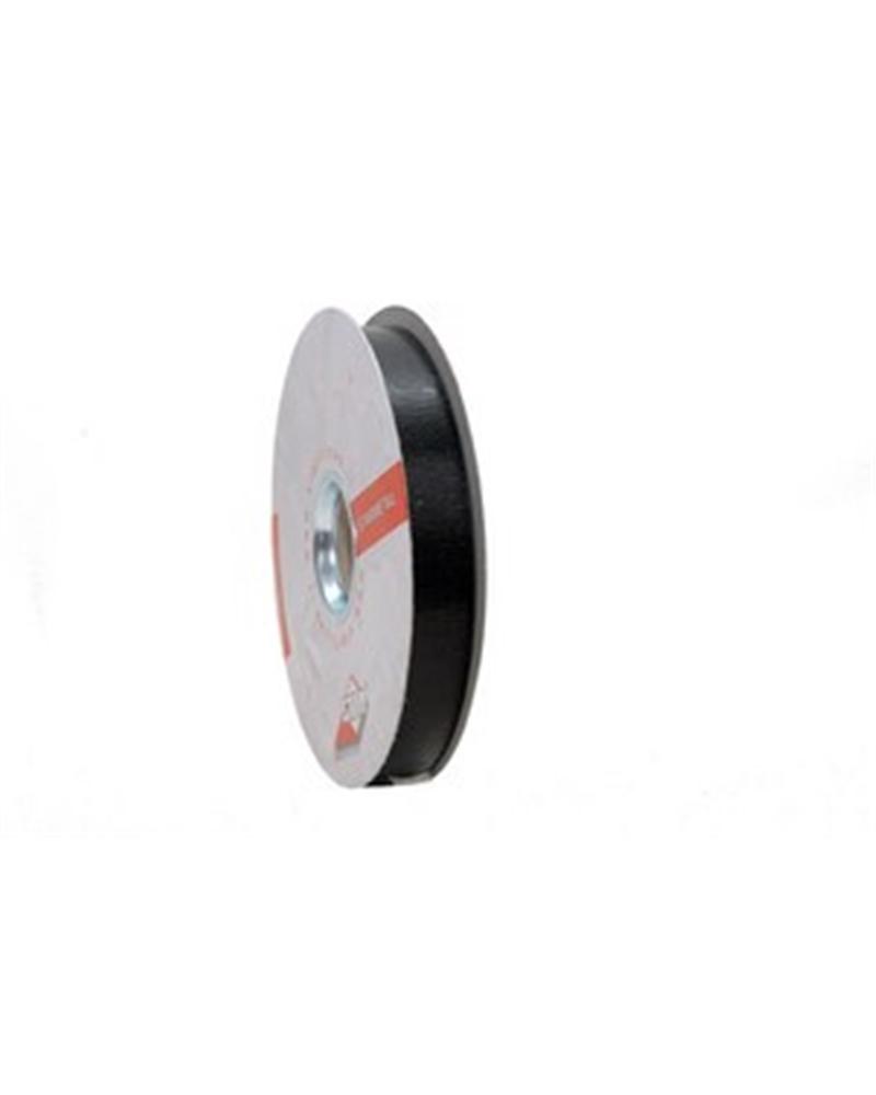 Rolo Fita Metalizada Gofrada Preta - Preto - 19mmx75mts - FT4239