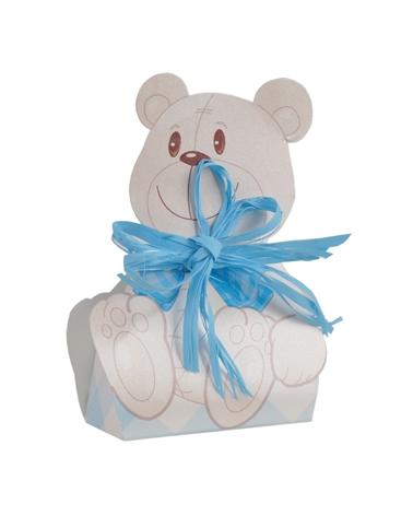 Caixa Criança Urso Celeste 60x40x110 - Azul - 60x40x110mm - CX3245