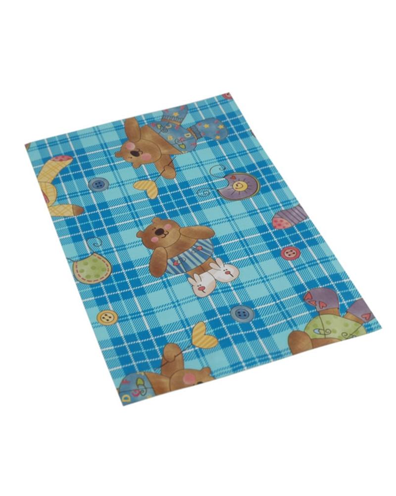 Saco com Pala Polipropileno Teddy Azul 16x25 - Azul - 16x25 - SC3082