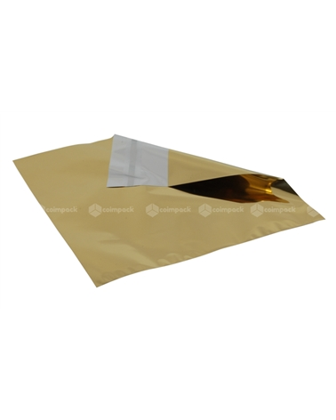 Saco c/Pala Autocolante Metalizado Fundo Dourado - Dourado - 18x15+5 - SC3104