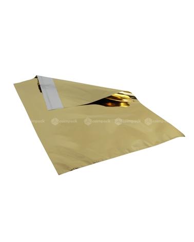 Saco c/Pala Autocolante Metalizado Fundo Dourado - Dourado - 35x50+5cm - SC3110