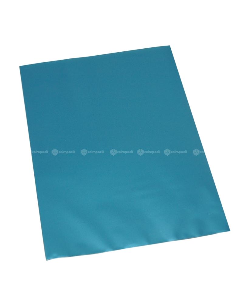 Saco c/ Pala Metalizado Mate Fundo Azul - Azul - 12x17.5 - SC3116