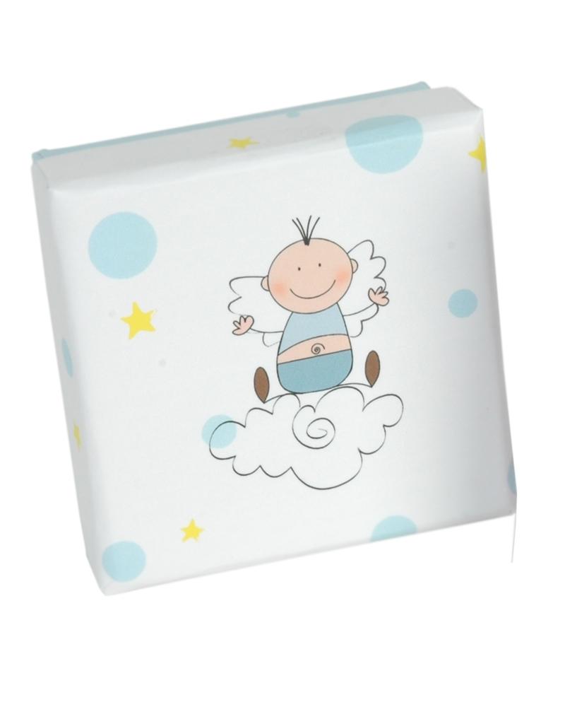 Caixa Criança Linha Anjo Azul p/ Set - Branco - 6.5x6.5x2.6cm - EO0586