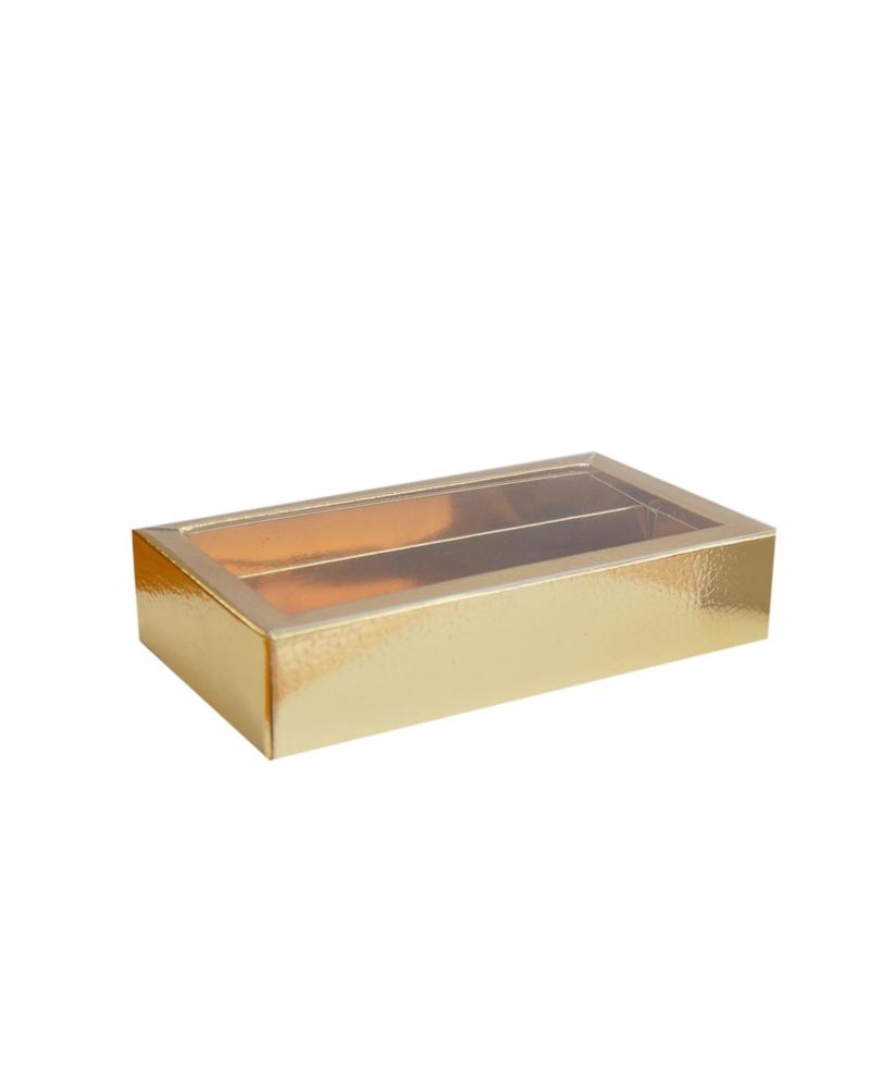Caixa Pelle Oro Quadretto+Fascetta - Dourado - 145x75x35mm - CX3270