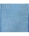 Rolo Fita Organza Aramada Azul 25mmx20mts - Azul - 25mmx20mts - FT5175