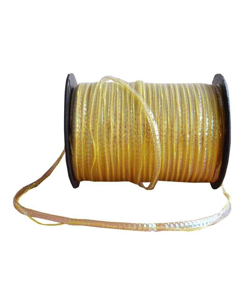 Fita de Puxar Micro Dourado 4mm - Dourado - 4mmx100mts - FT1558