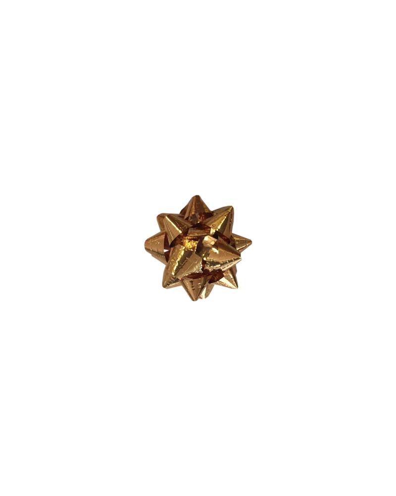 Laço Autocolante Micro Dourado Gofrado 5mm (c/100) - Dourado - 5mm - LÇ0045