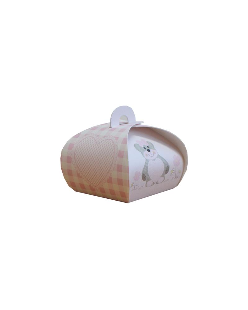 Caixa Criança Teddy Bear Rosa Tortina - Rosa - 55x55x50mm - CX3473