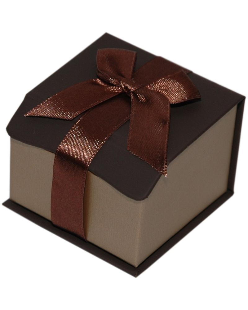 Caixa Linha Gold Chocolate p/ Anel - Castanho - 5.5x5.5x4.2cm - EO0648