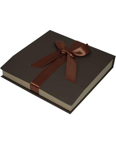 Caixa Linha Gold Chocolate p/ Colar - Castanho - 16x16x3cm - EO0651