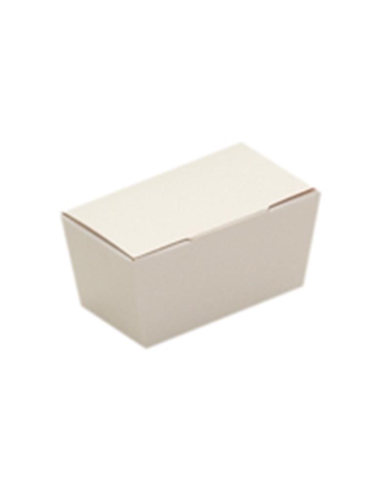Caixa Ballotin fundo Semi-Auto Branco - Branco - 65x35x30mm - ACX0080