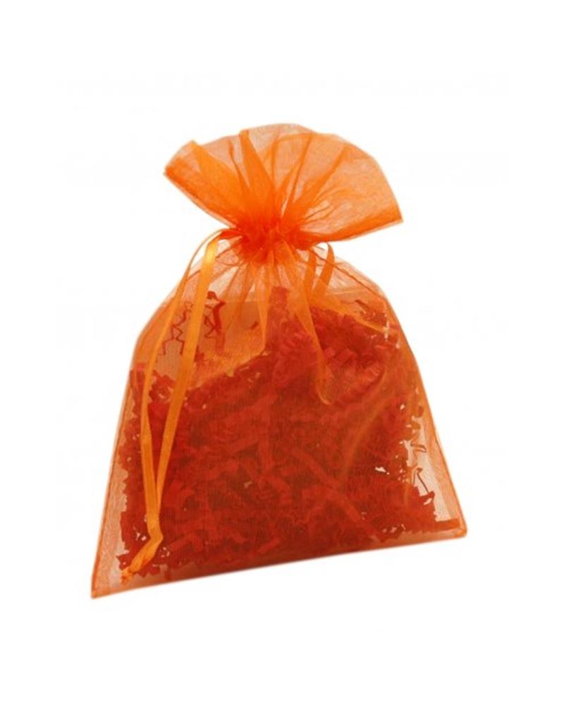 Saco Organza Laranja - Laranja - 13x18cm - EO0440