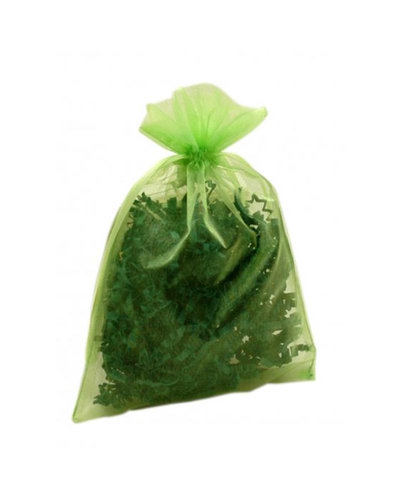 Saco Organza Verde - Verde - 13x18cm - EO0441