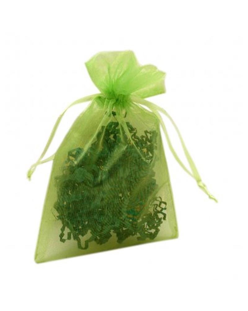 Saco Organza Verde - Verde - 10x15cm - EO0448