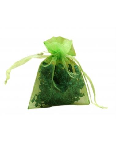 Saco Organza Verde - Verde - 7.5x10cm - EO0455
