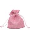Saco Polyester Tons Rosa - Rosa - 10x14cm - EO0624