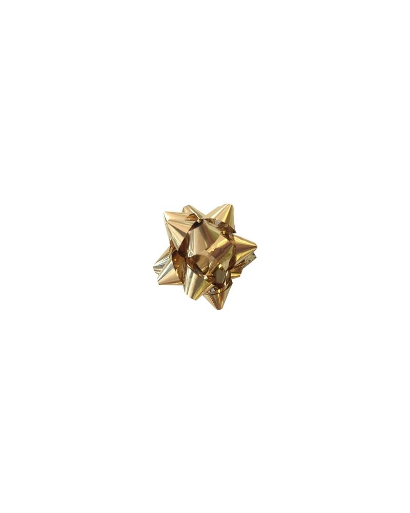 Laço Autocolante Micro Dourado Claro - Dourado - 5mm - LÇ0203