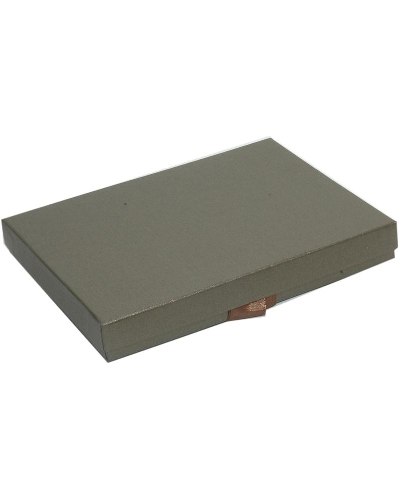 Caixa Linha Marron p/ Colar c/Fita - Castanho - 17.8x13.5x2.5cm - EO0612