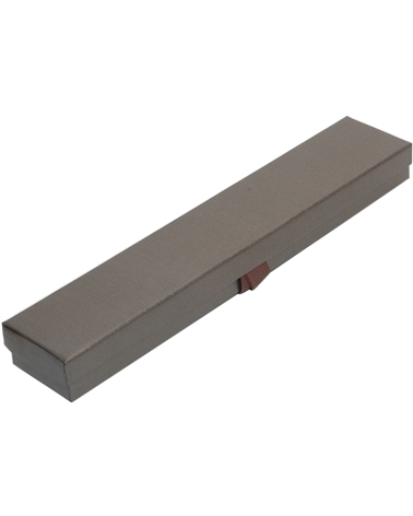 Caixa Linha Marron p/ Pulseira c/Fita - Castanho - 22.8x4.4x2.3cm - EO0613