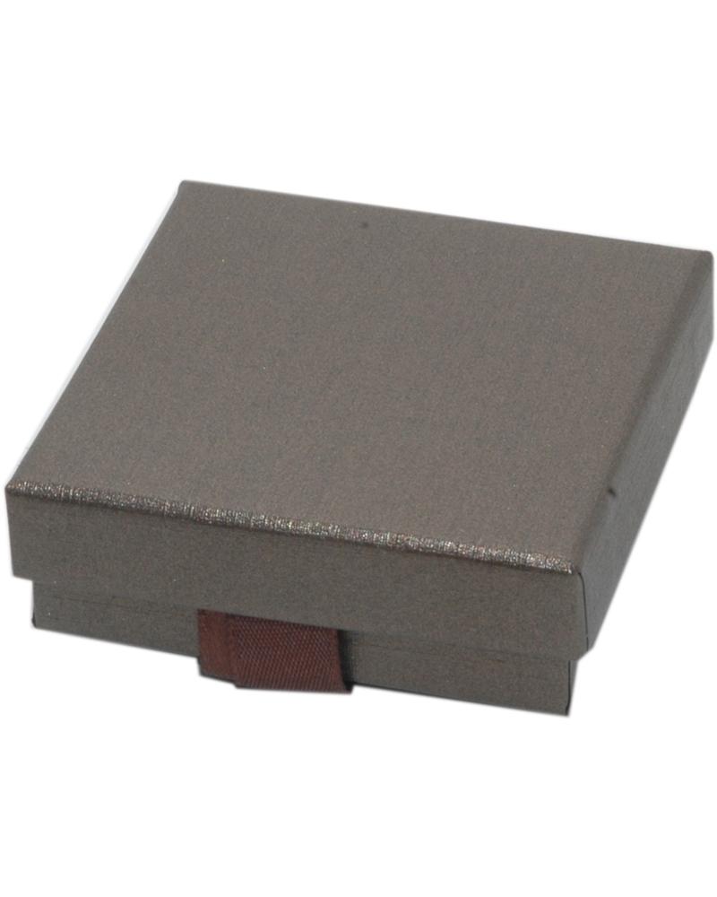 Caixa Linha Marron p/ Pendentes c/Fita - Castanho - 6.6x6.6x2.3cm - EO0616
