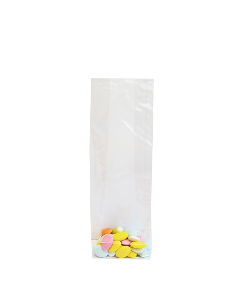 Saco Celofane Fundo Quadro - Transparente - 10+6x30cm - ASC0049