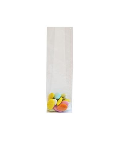 Saco Celofane Fundo Quadro - Transparente - 70+40x220mm - ASC0047